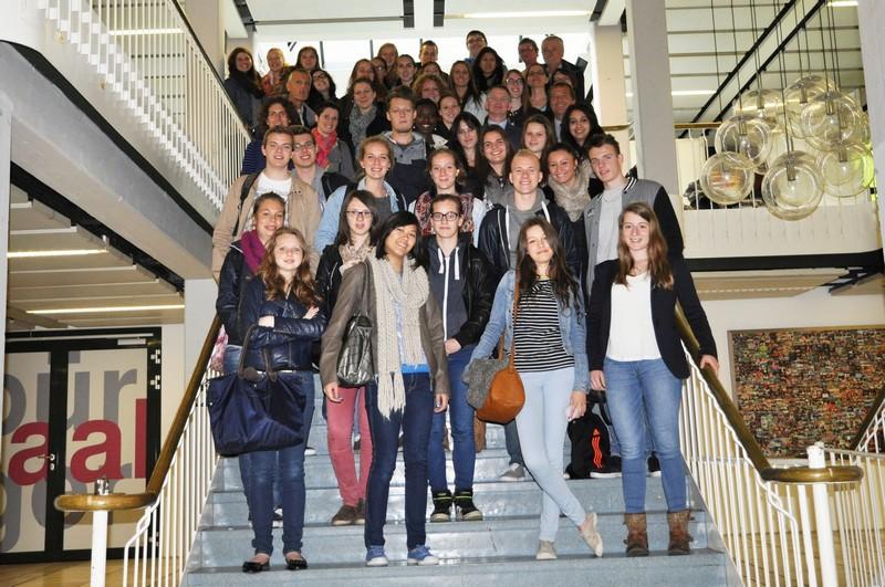 Schüler aus Mouscron waren zu Besuchin Rheinfelden.