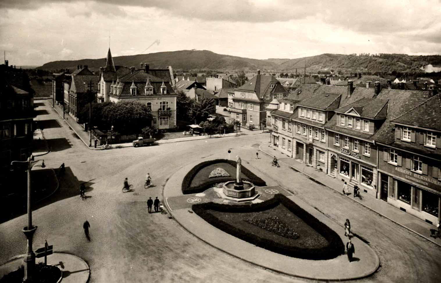 Blick auf den Oberrheinplatz (Aufnahme 1952)
