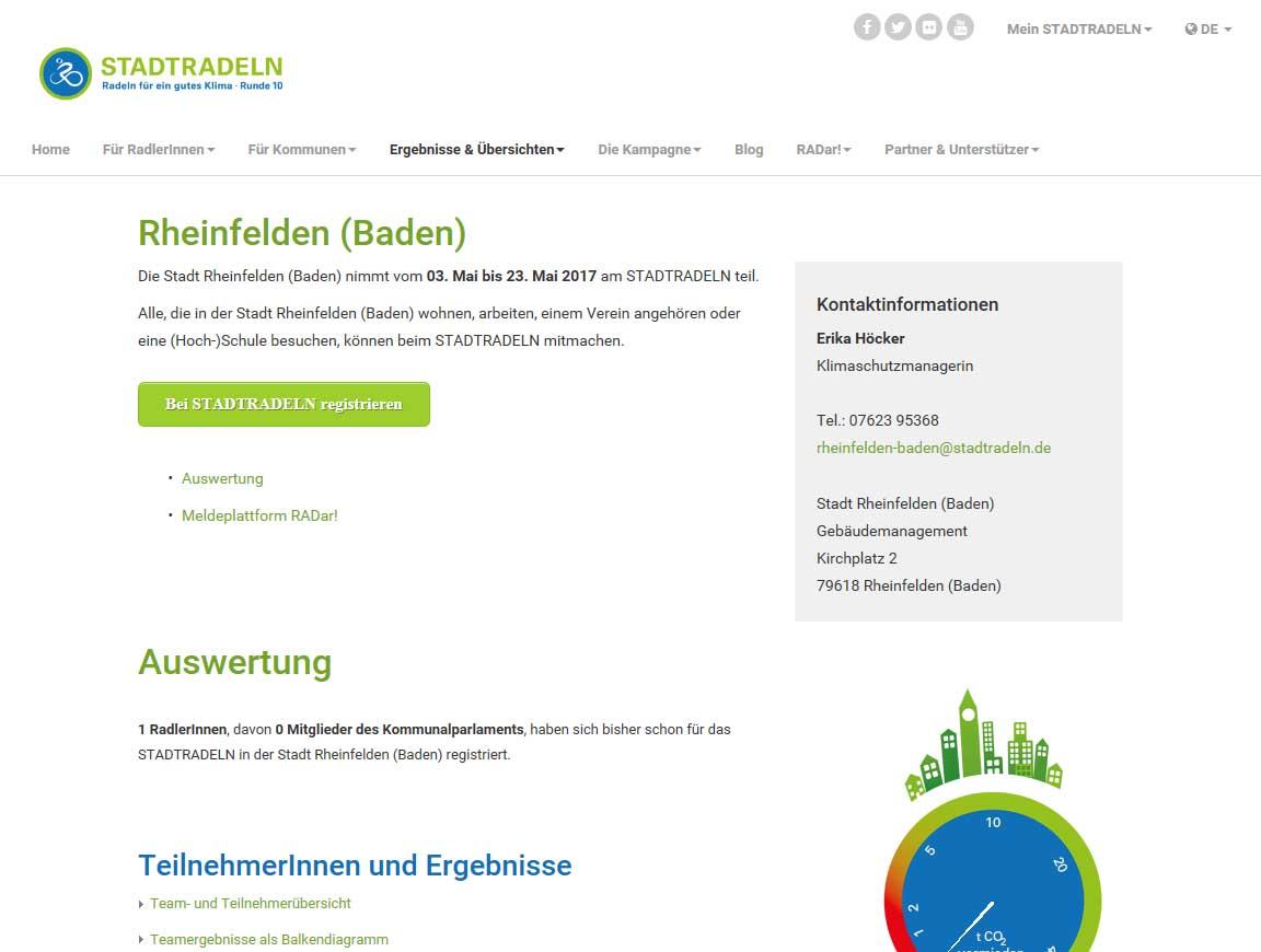 Zur Homepage Stadtradeln