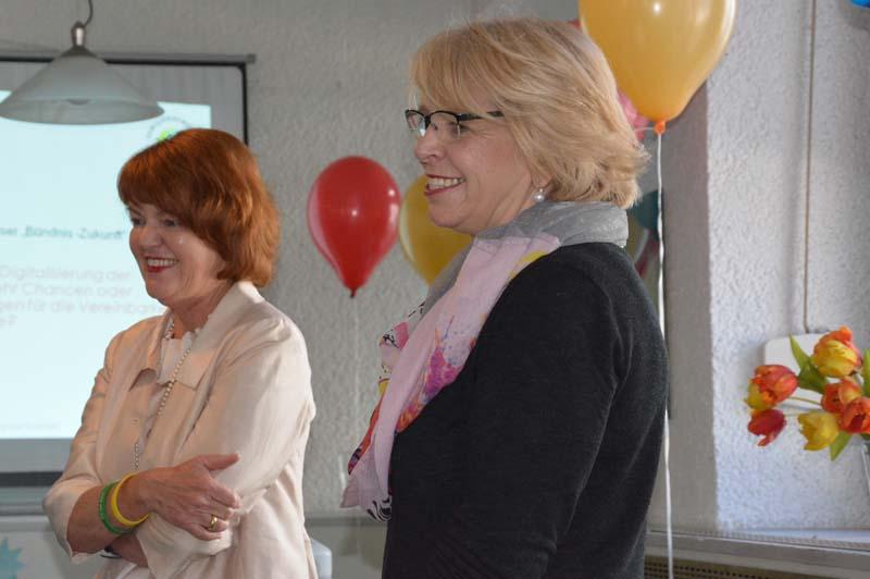 Cornelia Rösner (Stadtverwaltung) und Sabine Josef (Agentur 01) moderierten das Unternehmerfrühstück.