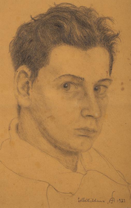 Arnold Schneider: Selbstbildnis von 1923