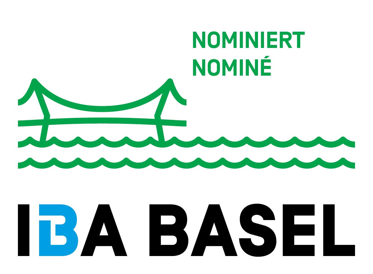 Logo der IBA Basel zum Rheinfelder Rheinuferrundweg