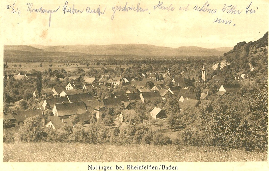 Carte Postale Historique de Nollingen (1913)