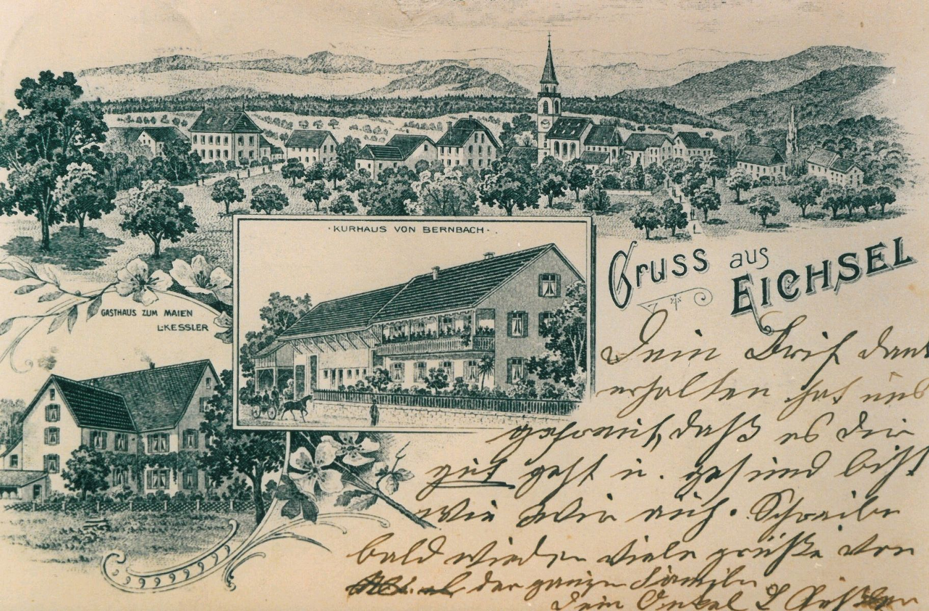 Painted postcard of Eichsel (1900)