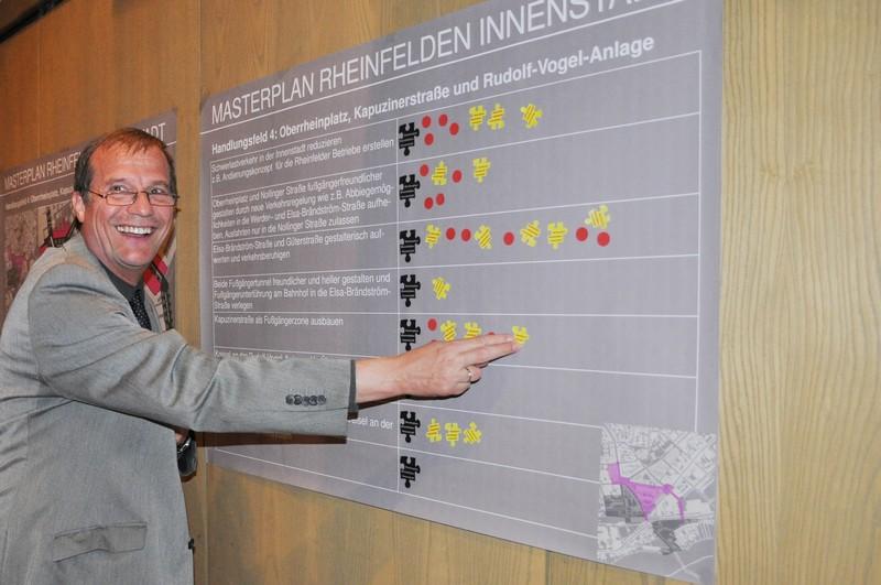 Oberbürgermeister Klaus Eberhardt bei der Bewertung der Maßnahmen.