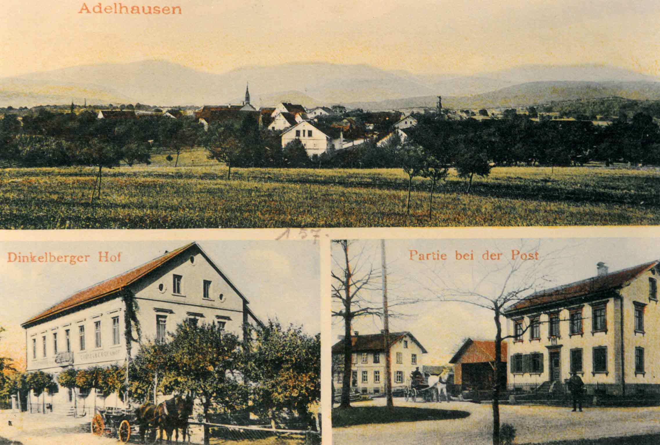 Picture postcard of Adelhausen (1920)