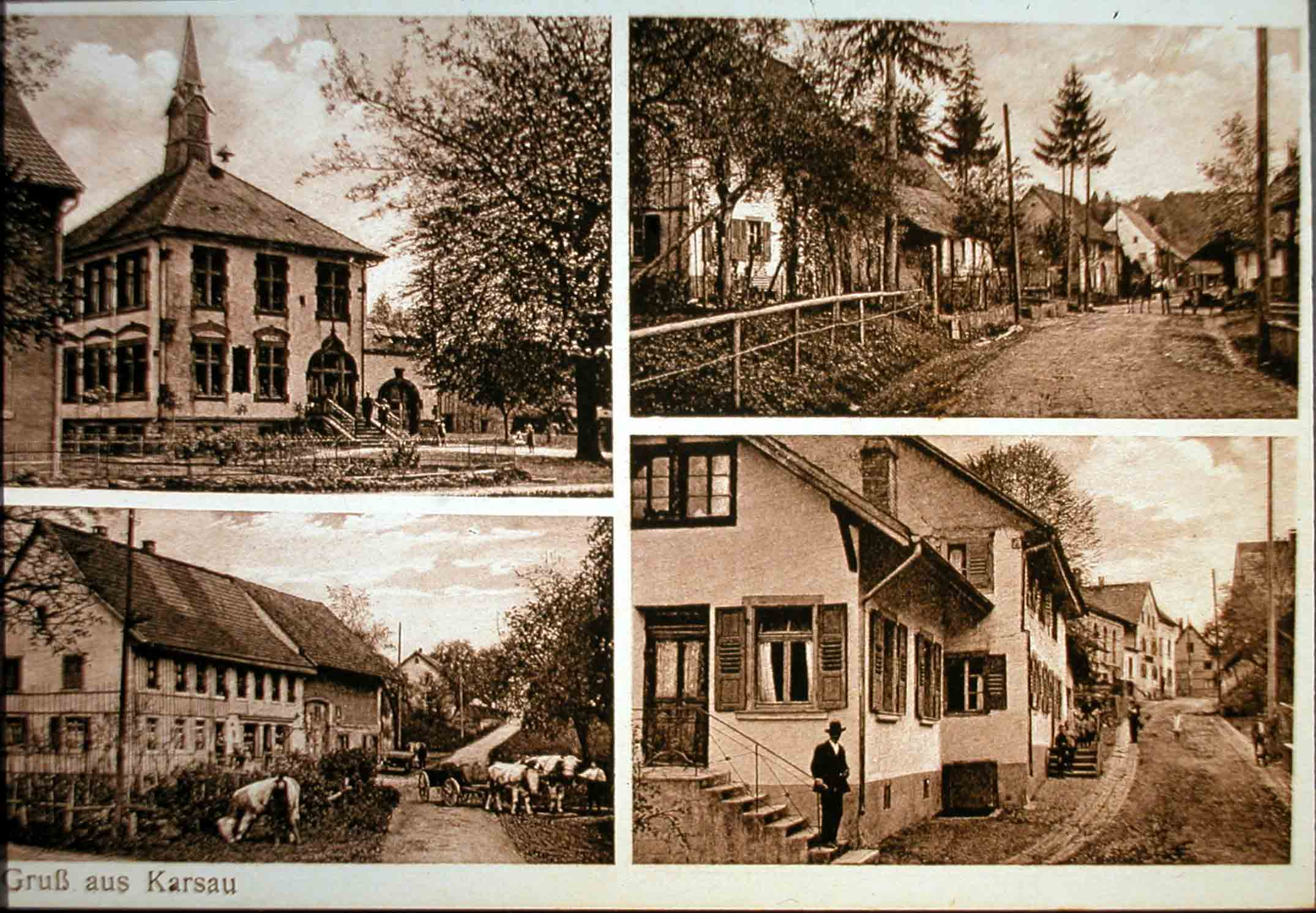 Picture Postcard of Karsau (1915)