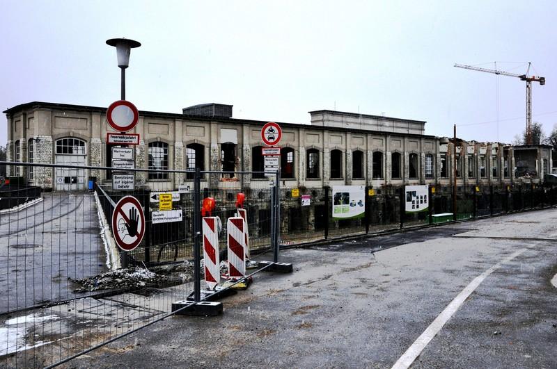 Abriss des alten Kraftwerks
