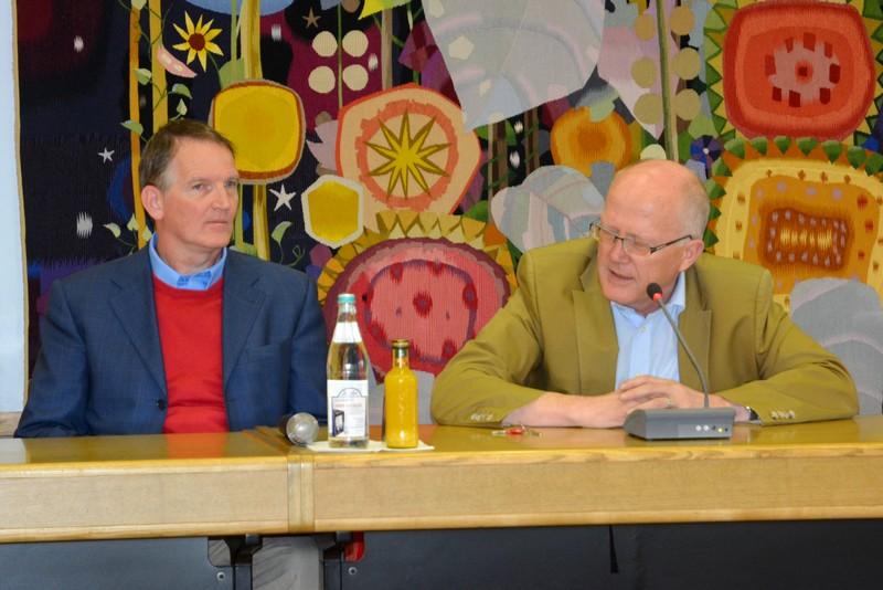 Jean-Pierre Vermeulen und Bürgermeister Rolf Karrer