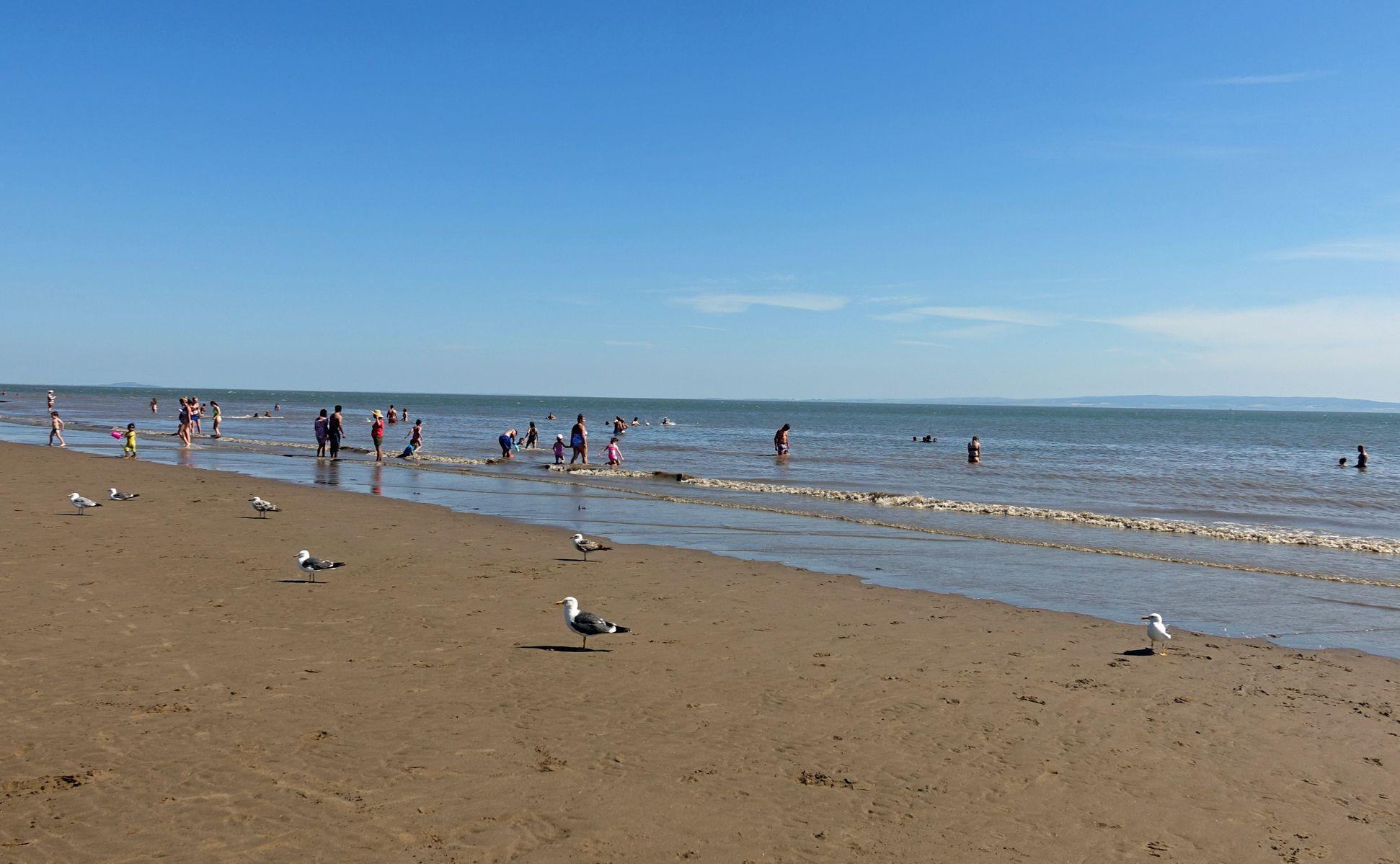 Am Strand von Barry.