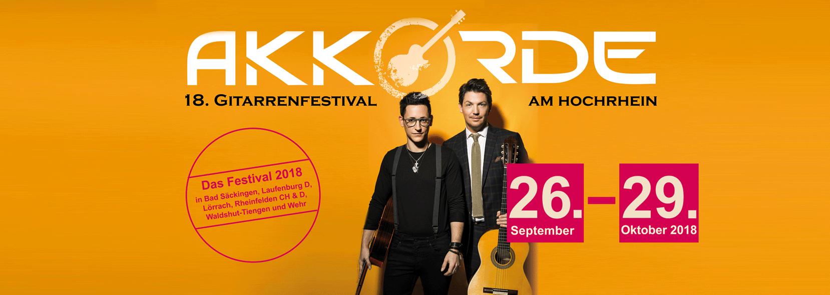 """Werbebild für das Gitarrenfestival """"Akkorde""""aus dem vergangenen Jahr"""