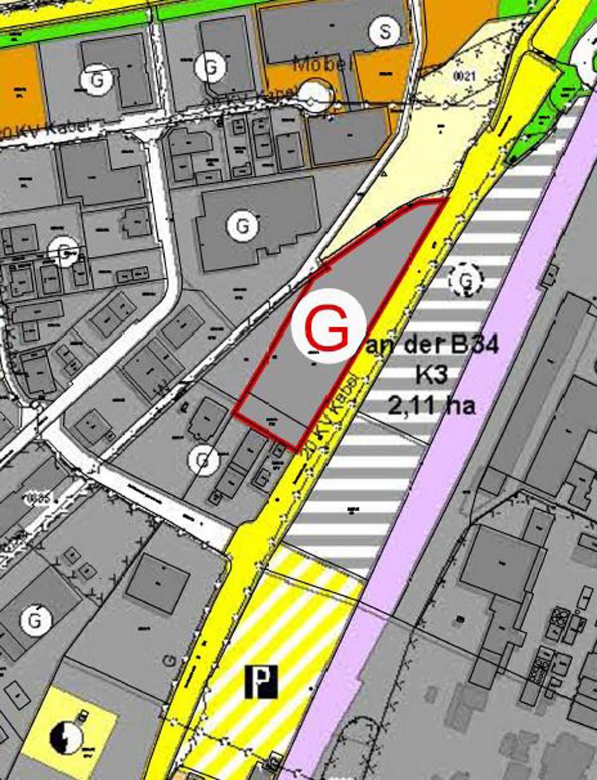 Plan des Geltungsbereichs der Teiländerung.