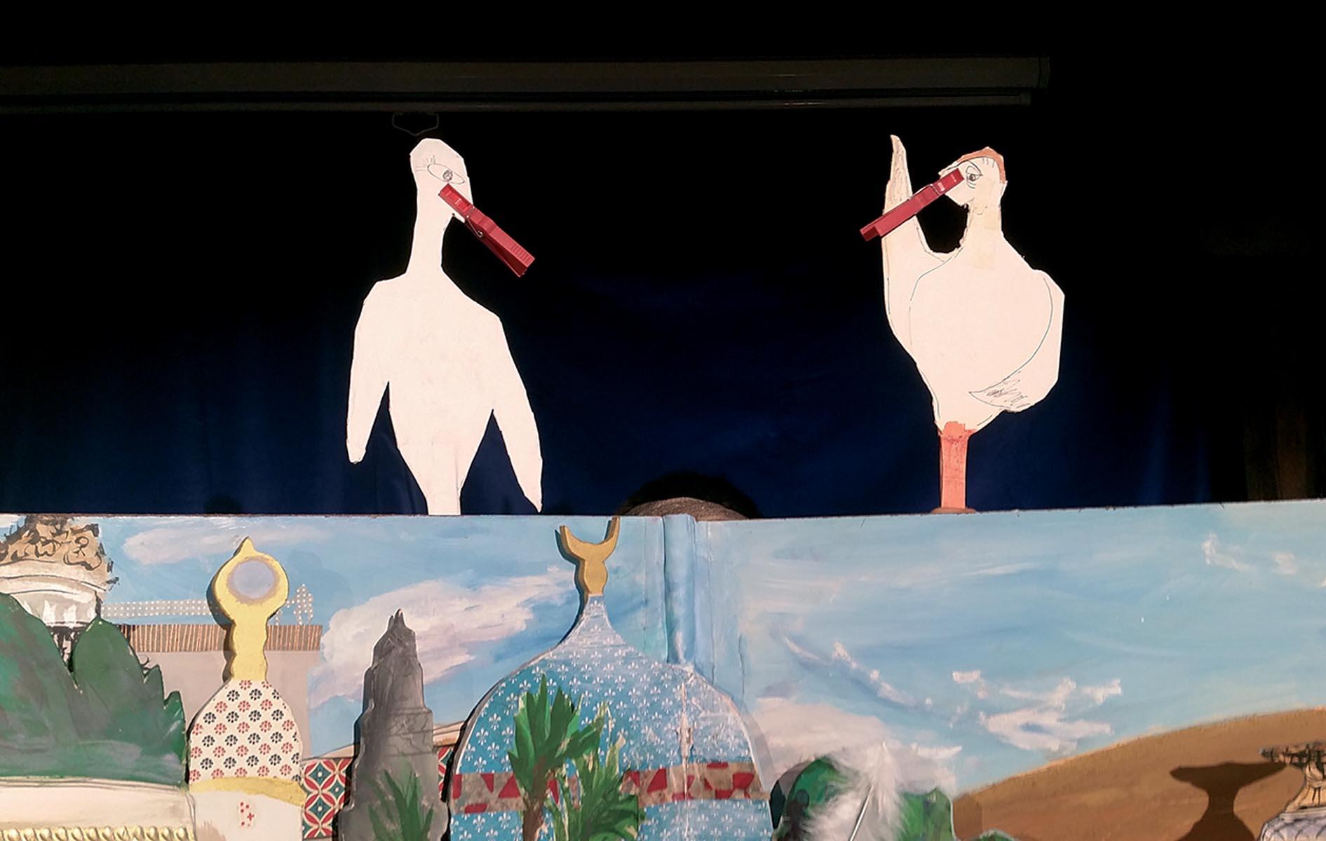 """Das Märchen """"Kalif Storch"""" wird im Jugendhaus gezeigt."""