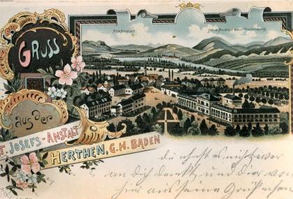 Ansichtskarte vom Sankt Josefshaus Herten um 1900