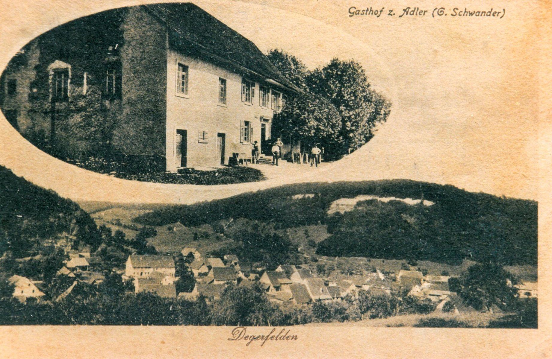 Gasthof Adler in Degerfelden, Aufnahme um 1920