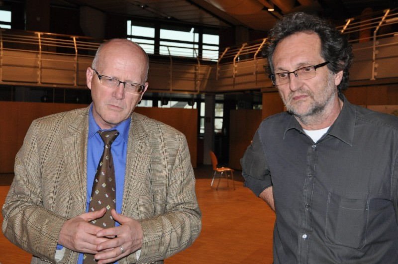 Bürgermeister Rolf Karrer und Christof Luz