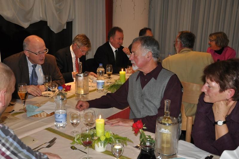Geselliges Beisammensein beim Jahres-Essen der Stadt Rheinfelden (Baden)