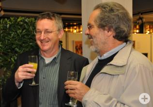 Kulturamtsleiter Claudius Beck und Dr. Wolfgang Bocks bei der Vernissage