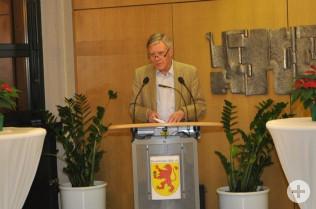 Oberbürgermeister Eberhard Niethammer begrüßt die Gäste.
