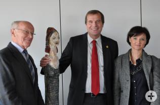 Karlheinz Hoppe, das Lottweib, Oberbürgermeister Klaus Eberhardt und Nicole Aellig-Kurz