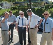 Oberbürgermeister Eberhard Niethammer, Herr Lauer, Herr Ganninger, Herr Haberkorn und Bürgermeister Rolf Karrer