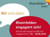 Woche des bürgerschaftlichen Engagements in Rheinfelden 14. - 23. September
