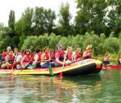 Rafting wird jetzt auch auf der Strecke Rheinfelden (Baden) - Grenzach angeboten.