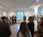 Pascal Joray, David de Caro und Roman Müller - drei Künstler der Basler Künstlergesellschaft stellen noch bis 2. Juni ihre Werke in der Stadtgalerie im Haus Salmegg aus.