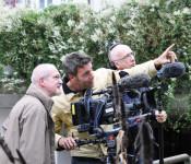 Redakteur Thomas Klinghammer, Kameramann Oliver Staubi und Tontechniker Wolfgang Steiner
