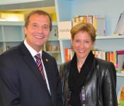Oberbürgermeister Klaus Eberhardt und Landrätin Marion Dammann
