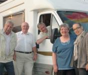 Peter (Zweiter von links) und Phyllis (Zweite von rechts) Daniel zu Besuch in Rheinfelden