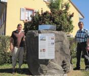 Karl Dörflinger (links) und Ortsvorsteher Jürgen Räuber