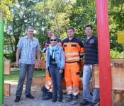 Achim Giner, Uwe Röschke, Karin Reichert-Moser, Patrick Tarnowski und Matthias Huber