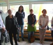 Ulrike Maunz, Bürgermeisterin Diana Stöcker, Sabine Kreil, Eveline Klein, Cornelia Rösner und Jeannette Knöpfel