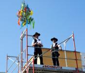 Traditioneller Richtspruch für die Aufstockung des Gebäudes