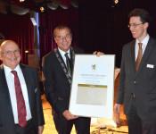 Alois Franke, Oberbürgermeister Klaus Eberhardt und Elmar Wendland