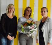Annette Sigmund, Alexandra Ebi und Bürgermeisterin Diana Stöcker