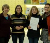 Andrea Strecker, Katja Benkler, Jennifer Revin und ihre Mutter
