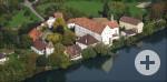 Schloss Beuggen - Luftbildaufnahme der gesamten historischen Anlage