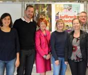 Kristina Buddrus, Thorsten Blanke, Cornelia Rösner, Karen Maßen, Bürgermeisterin Diana Stöcker und Claudius Beck