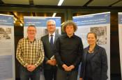 Claudius Beck, Thomas Wolf, Andree Kaiser und Bürgermeisterin Diana Stöcker