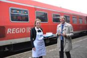 Noch bis Mittwoch, 21. September, findet die Aktion der Aktiven Bahnhöfe - Kaffee für Pendler - in Rheinfelden statt.