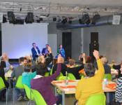 30 ehrenamtliche engagierte Rheinfelder Bürger nahmen an der Beteiligungswerkstatt von SAK und Freiwilligenagentur teil.