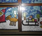 Adventsfenster im Kindergarten Sonnenschein in Eichsel.
