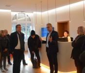 Gemeinderat besucht neues Domizil der städtischen Wohnungsbaugesellschaft.