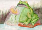 """Vom 22. April bis 18. Juni dreht sich im Haus Salmegg alles um Kunst aus der Türkei. Ayse Öcal, """"Frosch mit Embryo"""""""