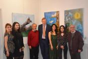 Merve TUFAN, Şükran ÜNEŞ, Necdet KUTOĞLU, Ingo Nitzsche, Ayşe ÖCAL, Ümmühan TÜRK und Ibrahim AKYÜREK freuen sich über die Gelegenheit ihre Kunst zeigen zu dürfen.
