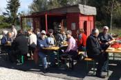 Zahlreiche Besucher kamen zum Kürbissuppenfest in die Metzgergrube.