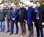 Der neu gewählte Bundestagsabgeordnete der FDP, Dr. Christoph Hoffmann (zweiter von links), besuchte gestern Oberbürgermeister Klaus Eberhardt.
