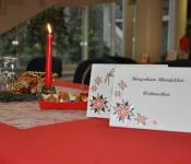Weihnachtsfeier im Bürgerheim.